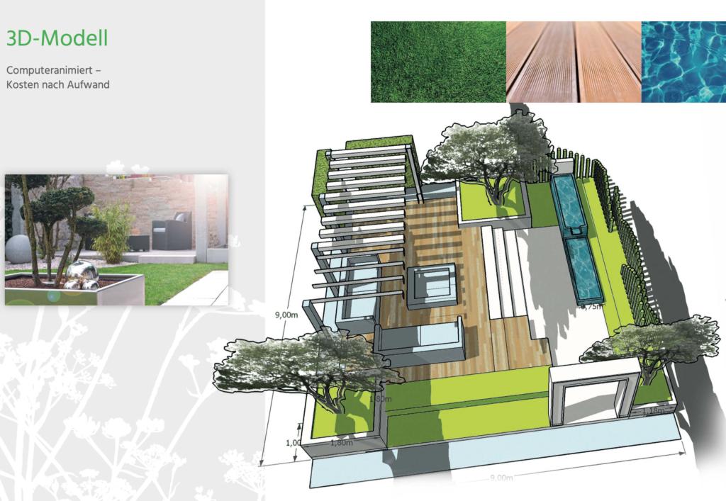 3d moderne Gartenplanung Hainmüller
