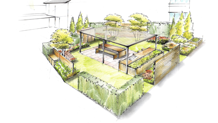 Moderne Gartenplanung